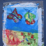 toile libre 33x41 cm, août 1995